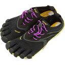Vibram FiveFingers ビブラムファイブフィンガーズ レディース V-Run Black/Yellow/Purple ビブラム ファイブフィンガーズ 5本指シューズ ベアフット ウィメンズ 靴 (16W3105)【コンビニ受取対応商品】