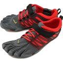 Vibram FiveFingers ビブラムファイブフィンガーズ メンズ スポーツシューズ V-Train Grey/Black/Red ビブラム ファイブフィンガーズ 5本指シューズ ベアフット 靴 (18M6602)