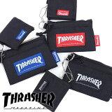 【即納】スラッシャー THRASHER コイン&カードケース コインケース メンズ・レディース ブラック [THRSG122 SS18][e]【メール便可】【メール便送料無料】