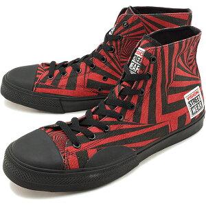 【コラボ】ヴィジョン ストリートウェアVISION STREET WEAR キャンパス ハイ CANVAS HI メンズ レディース ビジョン スニーカー 靴 GATOR RED レッド系 [VSW-8150 SS19]