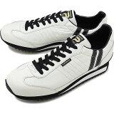 【返品送料無料】【限定復刻モデル】パトリック PATRICK マラソン・レザー MARATHON-L メンズ レディース スニーカー 日本製 靴 W/B ホワイト系 [98900]