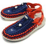【スーパーSALE限定50%OFF】KEEN キーン サンダル ユニーク フラット M UNEEK FLAT [1023064 SS20] メンズ アウトドア スニーカー 靴 Blue Depths/Firey Red ブルー系【sp】【e】