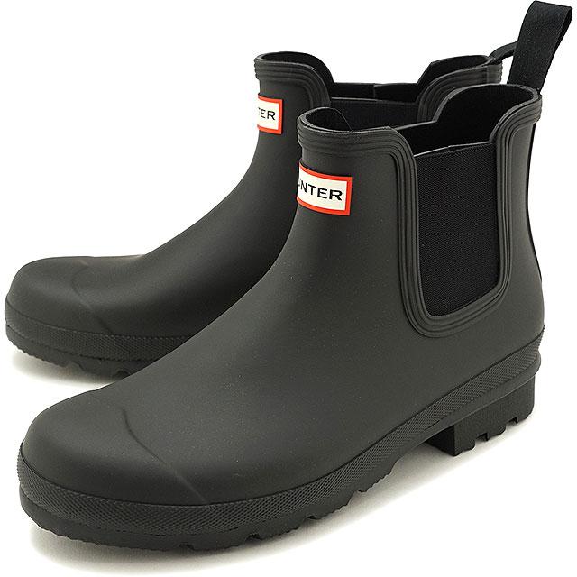 メンズ靴, レインシューズ・長靴 12 HUNTER M ORIGINAL CHELSEA MFS9116RMA-BLK SS20 BLACK