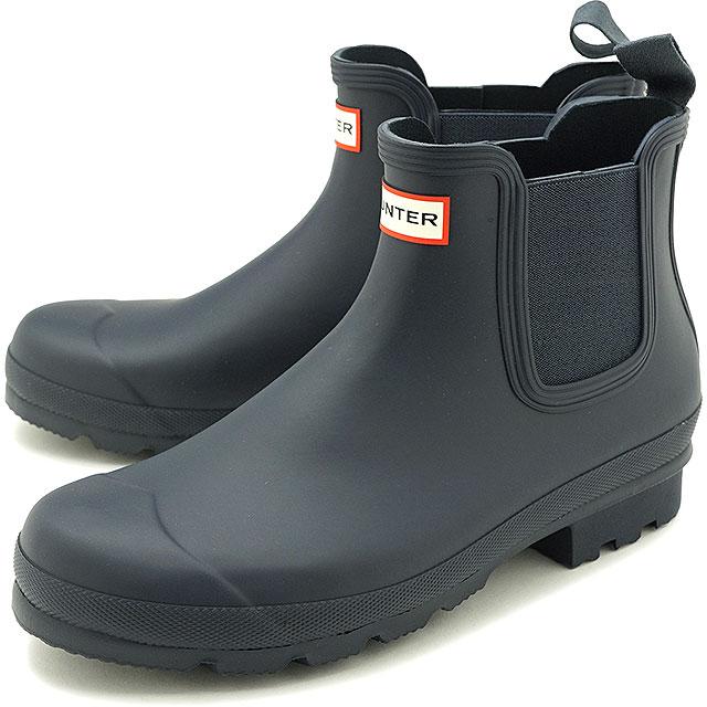 メンズ靴, レインシューズ・長靴 12 HUNTER M ORIGINAL CHELSEA MFS9116RMA-NVY SS20 NAVY