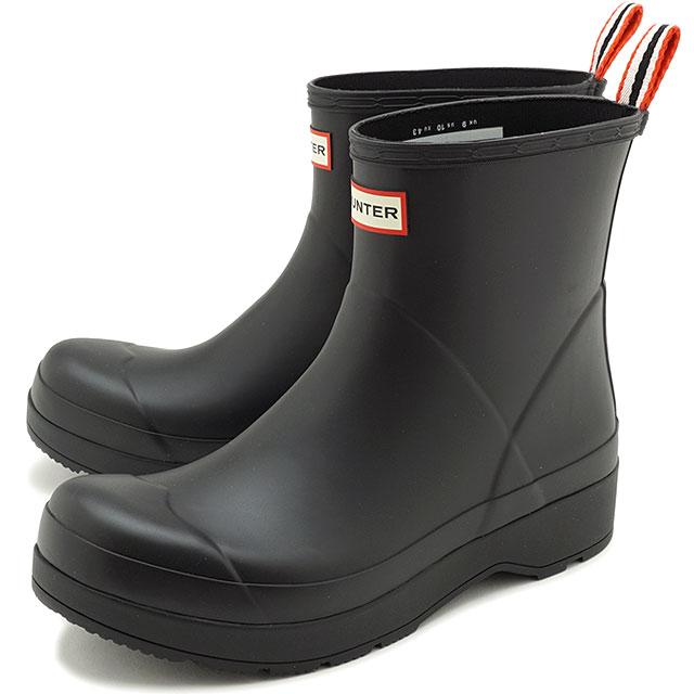 メンズ靴, レインシューズ・長靴 12 HUNTER M ORIGINAL PLAY BOOT SHORT MFS9088RMA SS21 BLACK