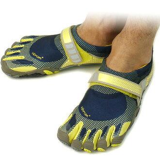 ■ 35 %OFF! surprise ■ Vibram FiveFingers Vibram five fingers men's BIKILA Navy/Yellow five fingers shoes barefoot ( M3424 ) fs3gm