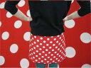 【1m単位】【ブロード生地】大きめ赤水玉/ドット【楽天週間ランキング入賞】5m以上ご購入の方へ生地の色に合うシャッペスパンミシン糸…