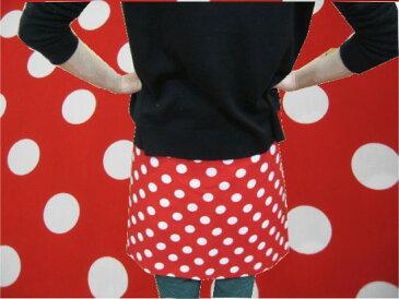 【10cm単位】【ブロード生地】大きめ赤水玉ドット【楽天週間ランキング入賞】発表会の衣装づくりにも♪コンサート 忘年会 新年会 学園祭 文化祭 アイドル衣装 ミニーちゃん風