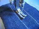 【新品】 針送り本縫いミシン用細幅押さえ金 suisei P27 押さえ幅10mm 長さ28mm 尻切り