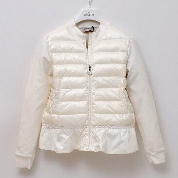 【サイズ12A】モンクレール MONCLER ジュニア 子供服 GIUBBINO 裾フレア ライトダウンジャケット ホワイト系 8462500 80987 032