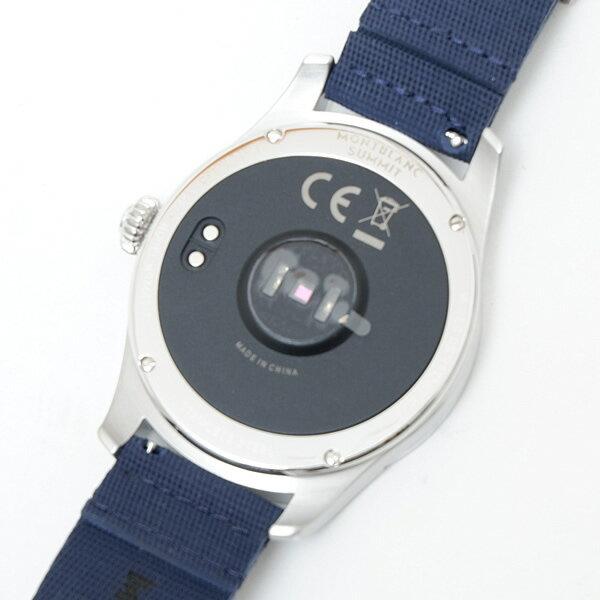 モンブラン MONTBLANC サミット スマートウォッチ 腕時計 スティールケース シルバー×ネイビーブルー ラバーベルト [メンズ] 117741[☆]
