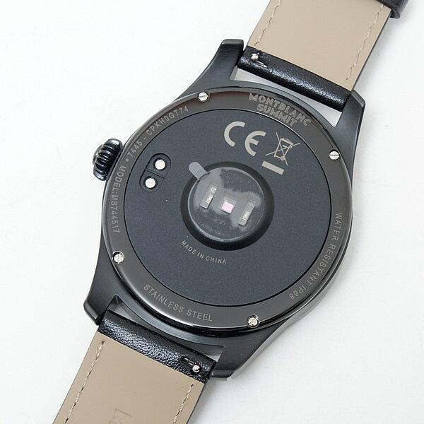 モンブラン MONTBLANC サミット スマートウォッチ 腕時計 ブラック スティールケース レザーベルト [メンズ] 117538