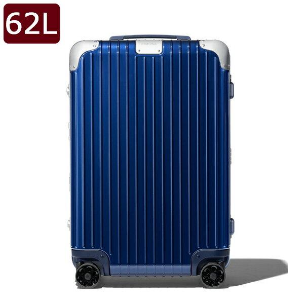 【GoToトラベル・国内旅行・日帰りから宿泊までお得にお出掛け♪】リモワ RIMOWA ハイブリッド チェックイン HYBRID Check-In M キャリーオン 4輪 スーツケース グロスブルー 62L(5泊程度) [メンズ][レディース] 88363604 BLUE GLOSS【○J12】
