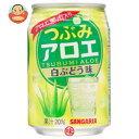 サンガリア つぶみ アロエ 白ぶどう味 280g缶×24本入...