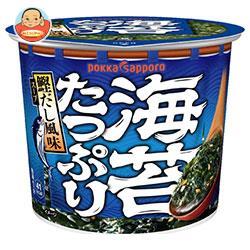 ポッカサッポロ 素材屋すうぷ 海苔たっぷりいりこと鰹だし仕立てスープ カップ入り 11.2g×24(6×4)個入