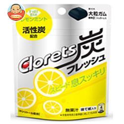 モンデリーズ・ジャパン クロレッツ 炭フレッシュ レモンミントパウチ(粒ガム) 9粒×6袋入