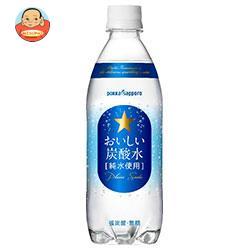 ポッカサッポロ おいしい炭酸水 500mlPET×24本入【RCP】