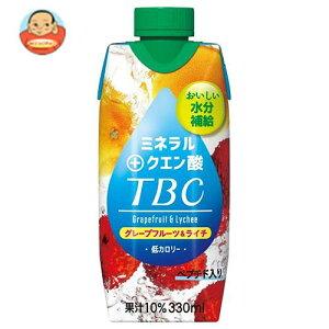 送料無料 森永乳業 TBC ミネラル+クエン酸(プリズマ容器) 330ml紙パック×12本入 ※北海道・沖縄は別途送料が必要。