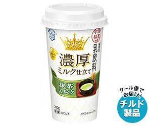 送料無料 【チルド(冷蔵)商品】雪印メグミルク 濃厚ミルク仕立て 抹茶ミルク 200g×12本入 ※北海道・沖縄・離島は別途送料が必要。