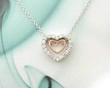 【送料無料】【日本製】 ☆天然ダイヤモンドのラブリーハートペンダントシルバー925 日本製