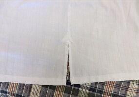 【50枚セット】リネン対応T/C65/35ストライプシャツ型ガウン【業務用】