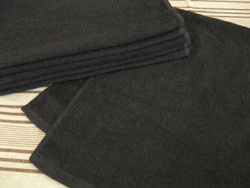 日本製 300匁 黒フェイスタオル(約36×82cm) 刺しゅう入り 【お買い得】【アウトレット】