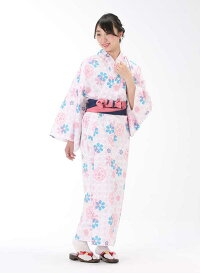 【浴衣と帯のセット】日本製梅山茶花(うめさざんか)旅館浴衣【業務用】【遠州織物】