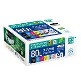 IC6CL80L リサイクルインクカートリッジ 6色パック エコリカ ECI-E80L-6P エプソン対応 【沖縄・離島 お届け不可】