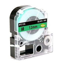 SC12G 12mm 緑地黒文字 キングジム用 テプラPRO互換テープカートリッジ