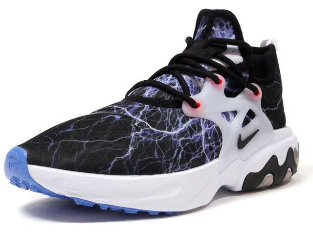 メンズ靴, スニーカー NIKE REACT PRESTO TROUBLE AT HOME LIMITED EDITION for NSW BLACKBLACK-WHITE-UNIV BLUE (AV2605-006)