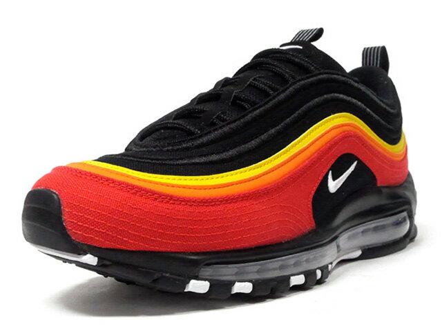メンズ靴, スニーカー NIKE 97 AIR MAX 97 QS BLACKWHITECHILLI REDORANGESPEED YELLOW (CT4525-001)