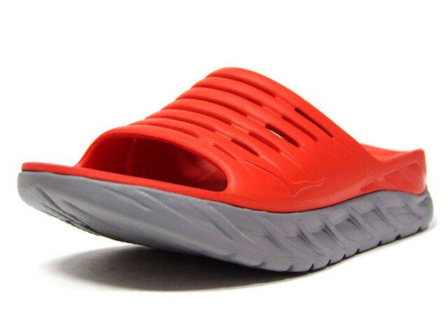 メンズ靴, スニーカー HOKA ONE ONE ORA RECOVERY SLIDE M.REDL.GRY (1099673MRWDV)