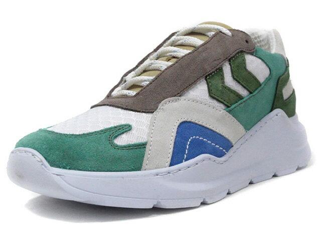 メンズ靴, スニーカー hummel EIRE CHASE HUMMEL HIVE O.WHTL.GRYBRNORGBLUWHT (HM207783-9241)