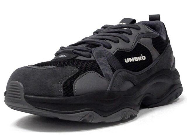 メンズ靴, スニーカー umbro BUMPY NEWBORN BLKC.GRYGRY (UL1PKC50BK)