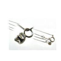 プラチナ9000.1ct天然ダイヤモンド一粒ネックレスK10WGチェーン【送料無料】