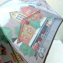 【6月22日クーポン2種類発行中】 【日本製】高級折りたたみ傘 甲州産ほぐし織 街並み風景柄 軽量 レディース用 ギフトにも 3