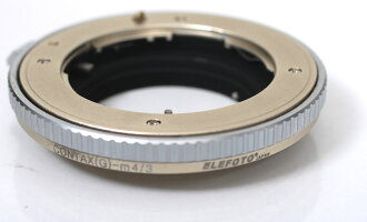 The CONTAX G-mount lenses used in the Olympus pen エレフォト Contax G lenses - micro four thirds mount adapter 3.0 Pearl Gold finishing