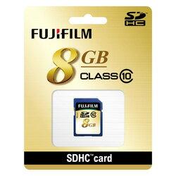 """富士膠片 SDHC 卡 8 GB 級 10""""交付 2 個工作日後航運,SD 卡 SDHC-008 G-C10 [fs04gm] [P14Nov15]"""