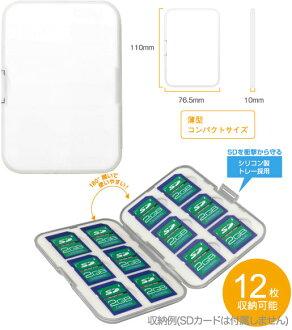 """有堅硬12枚温室SD卡收蔵情况GH-CA-SD12W""""發送SDHC 12張立即交納~2營業日""""之後的卡片匣的fs3gm"""