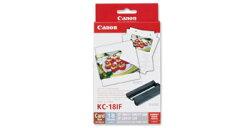 CanonKC-18IF『即納~2営業日後の発送』カードサイズ全面ラベルペーパー/インク18枚