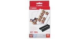 CanonKC-18IL『即納~2営業日後の発送』カードサイズ8分割ラベルペーパー/インク18枚