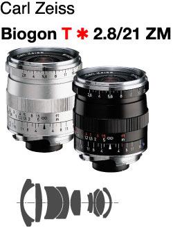 [3年保険付]Carl Zeiss Biogon T*F2.8/21mm ZM Mount Lenz『ブラック即納/シルバー納...