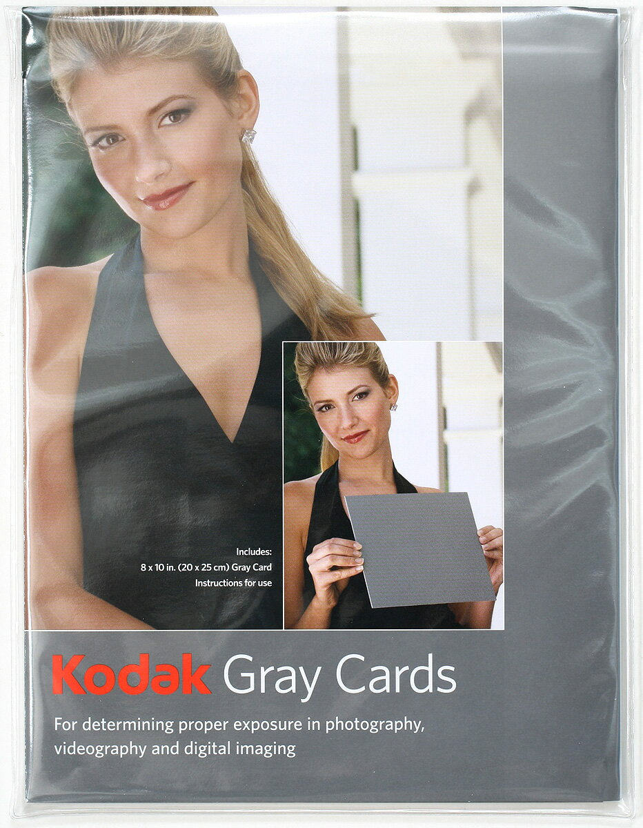 "Kodak Gray card r-27 ""immediate delivery ~ 3 business days after shipment will ' accurate white balance grey card and mobile handy 4 x 5"" (B5 level) medium format with fs3gm"