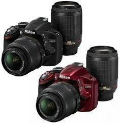 Nikon D3200ダブルズームキットニコンデジタル一眼レフダブルレンズキット『即納~』D3200Body+AF-S DX NIKKOR18-55mmf/3.5-5.6G VR標準ズームレンズ+AF-S DX VR Zoom-Nikkor55-200mmf/4-5.6G IF-ED望遠【smtb-TK】[02P11Jan14]fs3gm