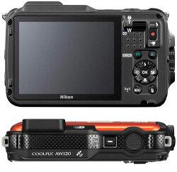 NikonCOOLPIXAW120デジタルカメラ『即納〜2営業日後の発送』広角に強い24-120mm相当F2.8-4.9レンズ搭載防水18m、耐衝撃2.0m、耐寒、防塵性能!アウトドアにぴったりのタフなデジカメ【smtb-TK】[02P24Feb14]【RCP】