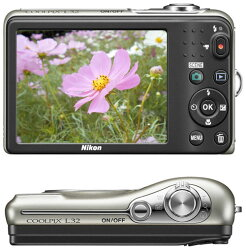 NikonCOOLPIXL32デジタルカメラ『即納〜2営業日後の発送』有効画素数2005万画素・シンプルな機能とコンパクトなボディで日々の撮影にぴったりのコンパクトデジカメ【smtb-TK】【RCP】[fs04gm][03P01Mar15]