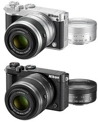 [8GBmicroSDHC&カメラバッグ付]Nikon1J5ダブルズームレンズキット『即納〜2営業日後の発送予定』ニコンデジタルミラーレス一眼レフJ5Body+1NIKKORVR10-30mmf/3.5-5.6PD-ZOOM電動標準ズームレンズ+1NIKKORVR30-110mmf/3.8-5.6望遠ズームキット【smtb-TK】[02P11Apr15]