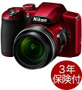 [3年保険付] Nikon COOLPIX B600 レッド 光学60倍ズームデジタルカメラ 高倍率ネオ一眼タイプデジカメ[02P05Nov16]