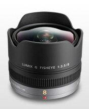 """松下 LUMIX G Fisheye8mm/F3.5 180 度對角線魚眼鏡頭""""提示交付 3 個工作日後航運 ' H F008 [激烈的角度和魚眼鏡頭畸變效應] [fs04gm] [03P19May15]"""