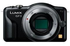 【送料無料】[3年保険付]パナソニック Lumix GF3 デジタル一眼 ボディのみ(ブラック)『2011年7...